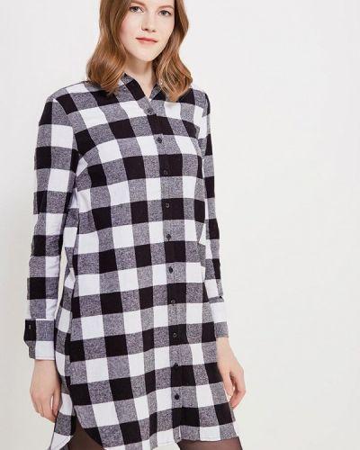 Платье платье-рубашка черное Modis