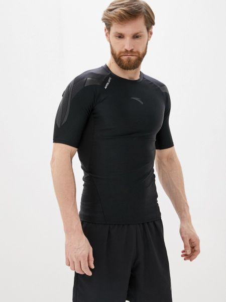 Спортивная черная спортивная футболка Anta