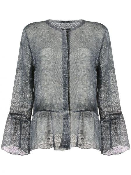 Хлопковый прямой серый пиджак Avant Toi