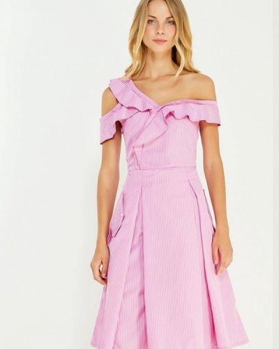 Платье розовое осеннее Tutto Bene