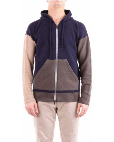 Z rękawami długi sweter z kapturem przycięte Lucques
