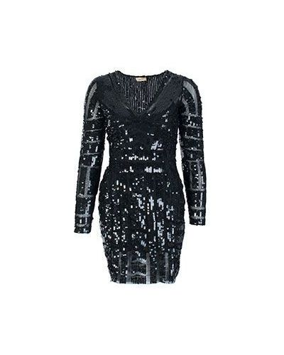 Вечернее платье с цветочным принтом с V-образным вырезом Liu Jo