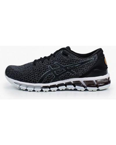 Текстильные черные кроссовки Asics
