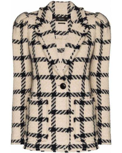 Прямой удлиненный пиджак в клетку на пуговицах Isabel Marant