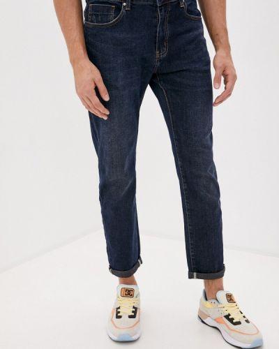 Синие зауженные джинсы-скинни Qwentiny
