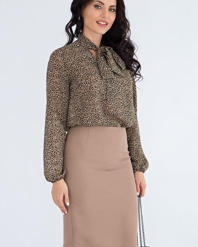 Шифоновая блузка - коричневая Lady Taiga