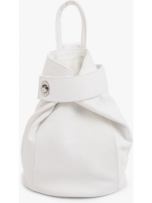 Кожаный рюкзак - белый Pulicati