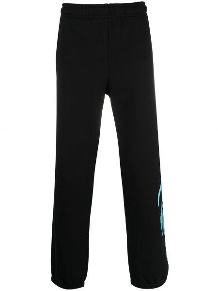 Czarne joggery bawełniane z printem Misbhv