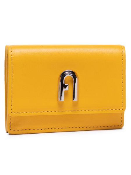 Żółty portfel Furla