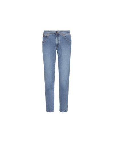 Niebieski bawełna jeansy Wrangler