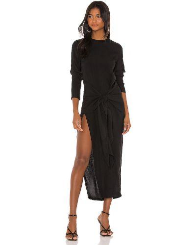 Czarny światło sukienka z wiskozy z zamkiem błyskawicznym Atoir