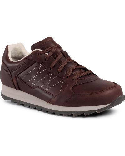 Brązowe sneakersy skorzane miejskie Merrell