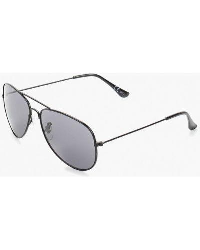 Солнцезащитные очки авиаторы черные Burton Menswear London
