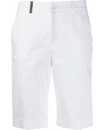 Белые шорты с карманами с воротником Peserico