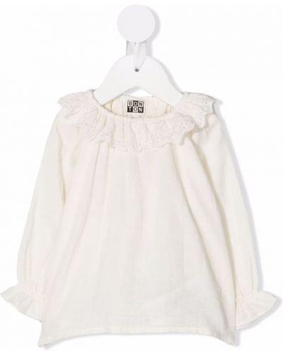 Bluzka z haftem - biała Bonton