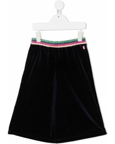 Черная юбка в полоску с поясом Billieblush