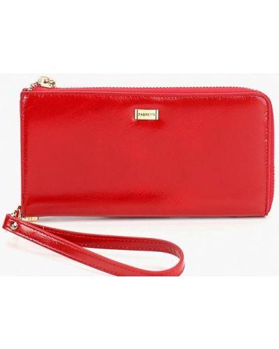 Красный кошелек итальянский Fabretti
