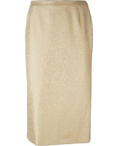 Юбка карандаш миди с завышенной талией Versace Vintage