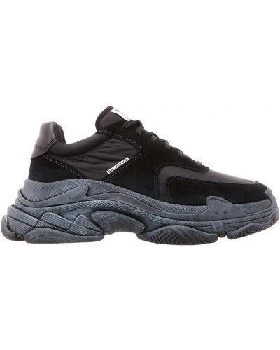 Черные кроссовки на шнуровке Balenciaga