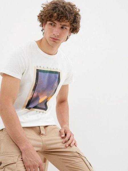 Белая футболка с короткими рукавами Qwentiny