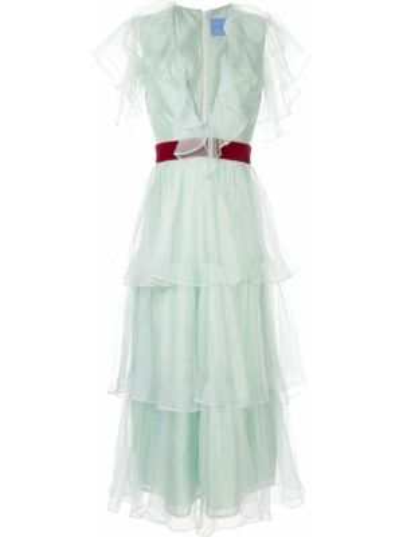 Шелковое платье миди - зеленое Macgraw