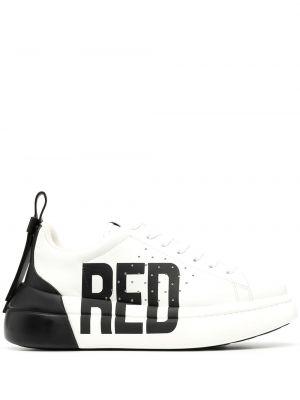 Czarne sneakersy skorzane sznurowane Redvalentino