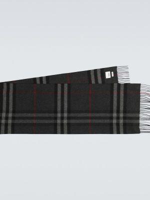 Классический шарф оверсайз с бахромой в рубчик Burberry