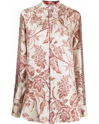 Бежевая блузка длинная Pierre-louis Mascia