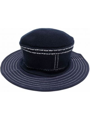 Biała z kaszmiru czapka Barrie