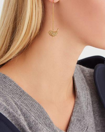 Серебряные серьги золотые удлиненные Natasha Zinko