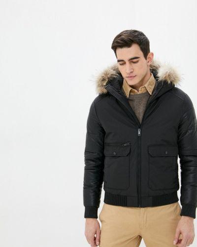 Черная утепленная куртка Mossmore