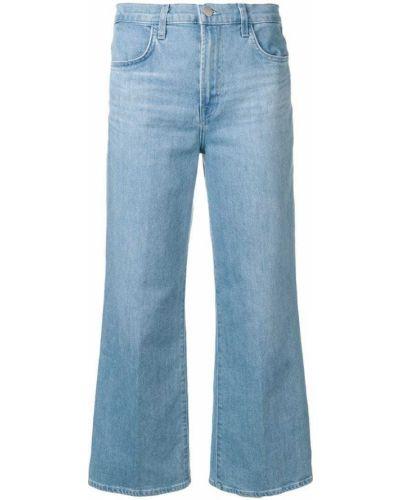 Широкие джинсы укороченные синие J Brand
