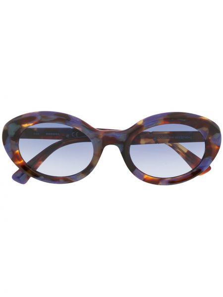 Прямые муслиновые солнцезащитные очки хаки Diesel