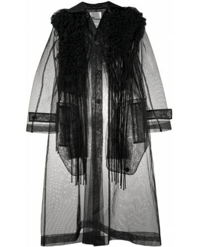 Черный тренчкот Comme Des Garçons Noir Kei Ninomiya