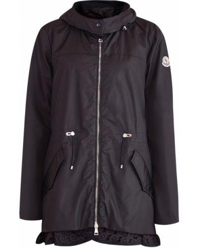 Куртка с капюшоном с вышивкой на молнии Moncler