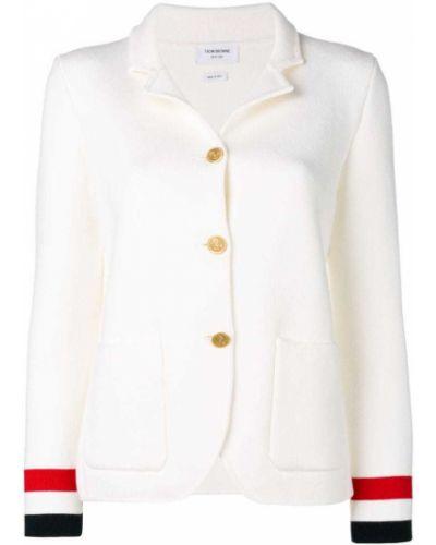 Пиджак в полоску трикотажный Thom Browne