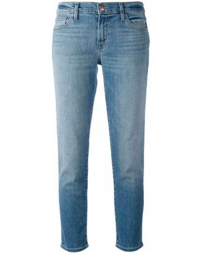 Прямые джинсы укороченные синие J Brand
