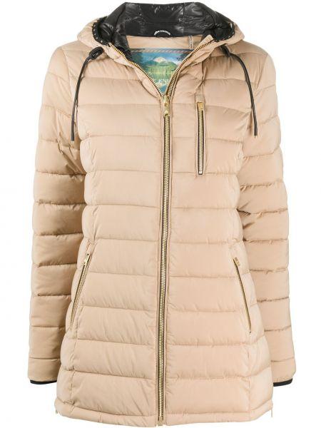 Pikowana płaszcz z kapturem asymetryczny Moose Knuckles