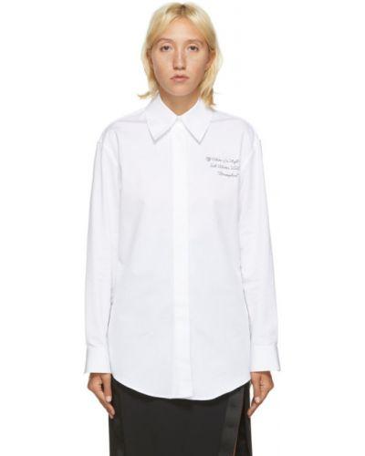 Czarny koszula z kołnierzem z haftem z mankietami Off-white