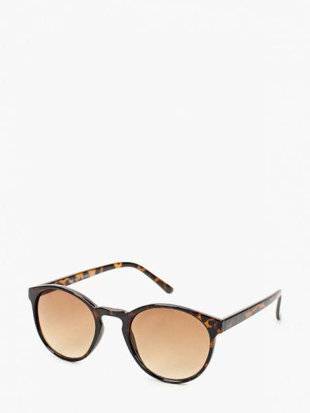 Муслиновые коричневые солнцезащитные очки круглые Marks & Spencer