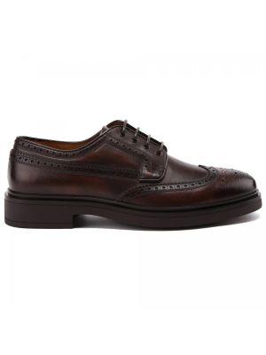 Коричневые итальянские туфли Fabi