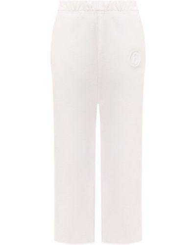 Хлопковые белые брюки Mm6