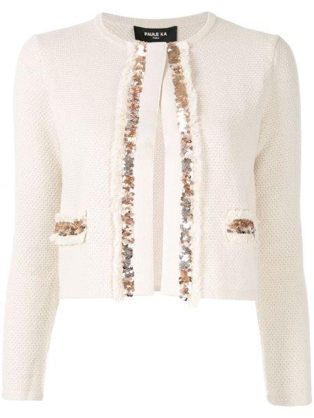 Приталенный удлиненный пиджак Paule Ka