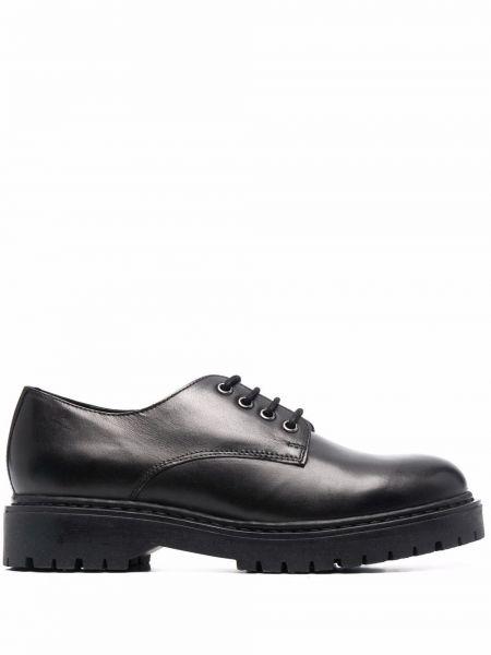 Черные туфли на шнуровке Geox