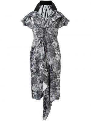 Платье миди с V-образным вырезом на молнии Maticevski
