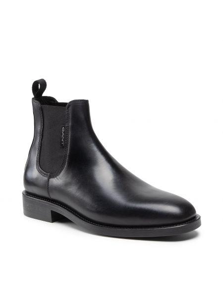 Czarne kozaki eleganckie Gant