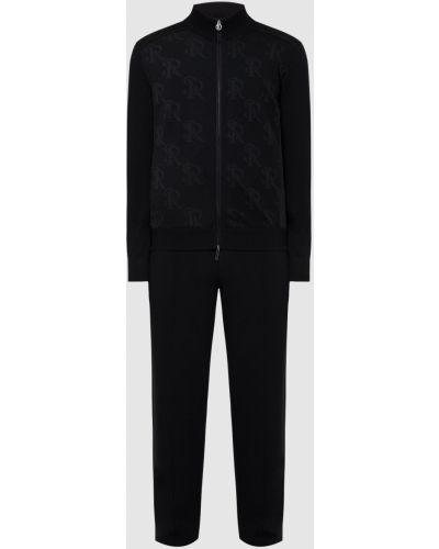 Шерстяной спортивный костюм - черный Stefano Ricci
