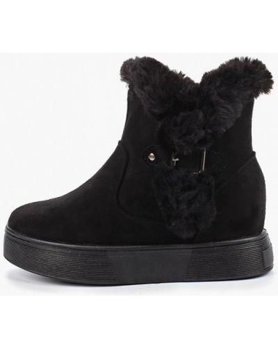 Велюровые черные ботинки Go-go