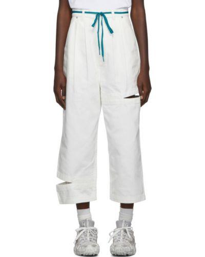 Bezpłatne cięcie ze sznurkiem do ściągania bawełna jeansy do kostek z kieszeniami Perks And Mini