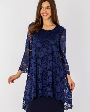 Вечернее платье осеннее синее S&a Style